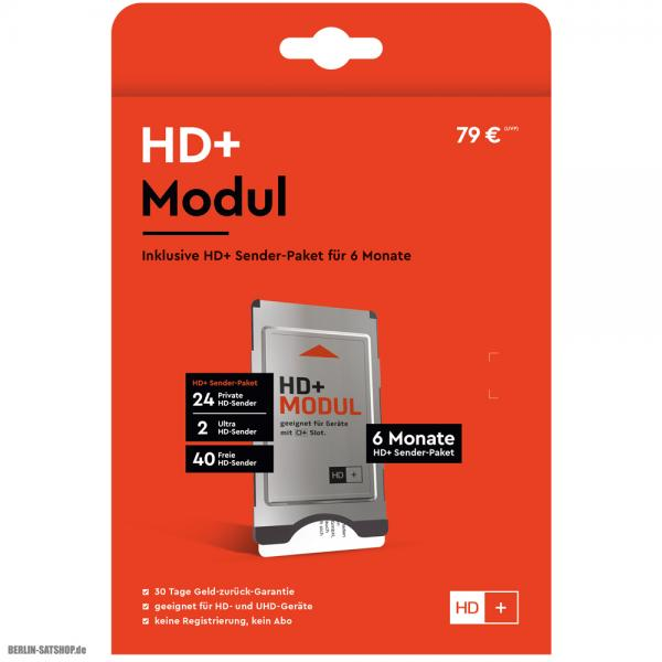 HD plus Modul - incl.6 Monate HD+-Paket - CI+ Modul mit ...
