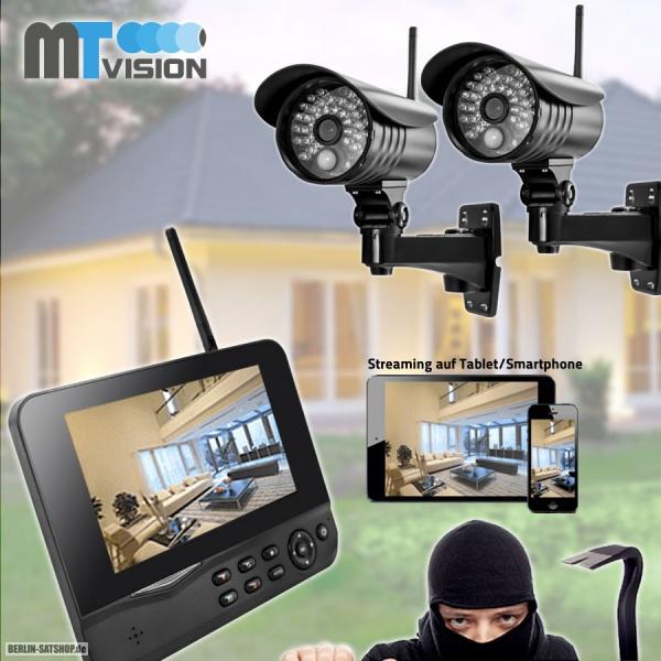 mt vision hs 210 ip netzwerk berwachungskamera set 2 kameras und monitor nur 299 00 berlin. Black Bedroom Furniture Sets. Home Design Ideas