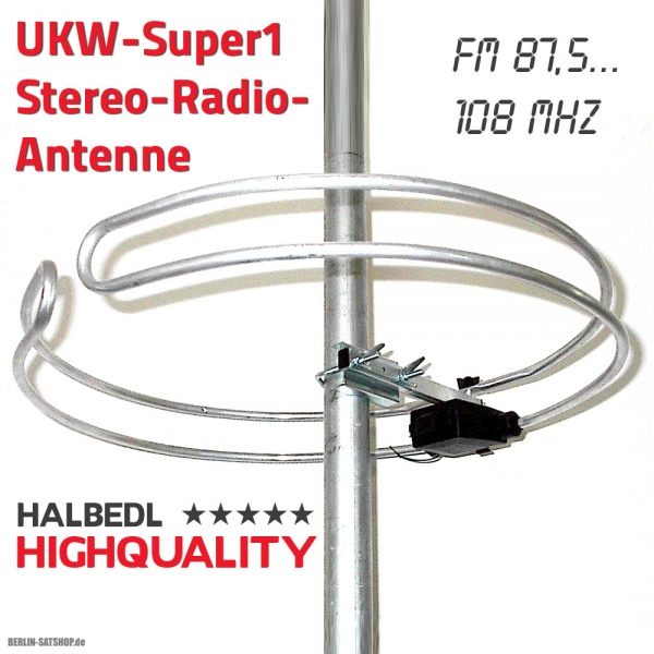 hhq halbedlhighquality ukw stereo radio antenne runddipol. Black Bedroom Furniture Sets. Home Design Ideas