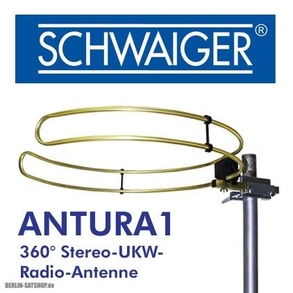 schwaiger antura1 ukw runddipol ringdipol antenne nur 22. Black Bedroom Furniture Sets. Home Design Ideas