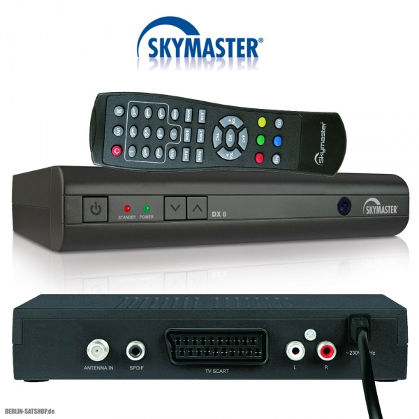 skymaster dx8 digitaler sat receiver nur 19 95 berlin. Black Bedroom Furniture Sets. Home Design Ideas