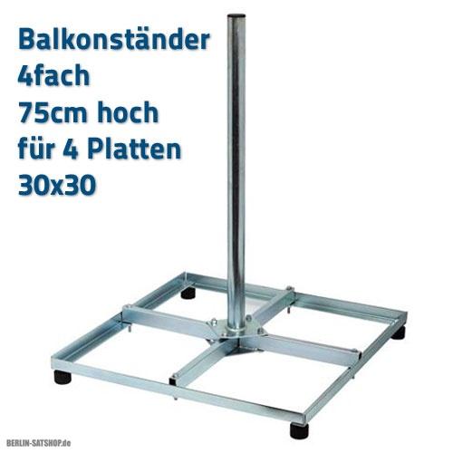 holland sat balkonst nder 4fach 30x30 stahl 75cm mast f r vier 30x30cm gehwegplatten ab 26 95. Black Bedroom Furniture Sets. Home Design Ideas