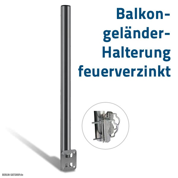 balkon gel nder halterung 60cm feuerverzinkt nur 9 95 berlin satshop. Black Bedroom Furniture Sets. Home Design Ideas