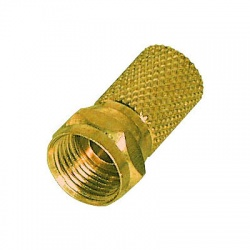 F-Stecker 8mm vergoldet
