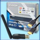 Piccollo 3in1 WLAN Sparpaket - Edision Argus Piccollo 3in1 + Edi-Mega WiFi-Stick
